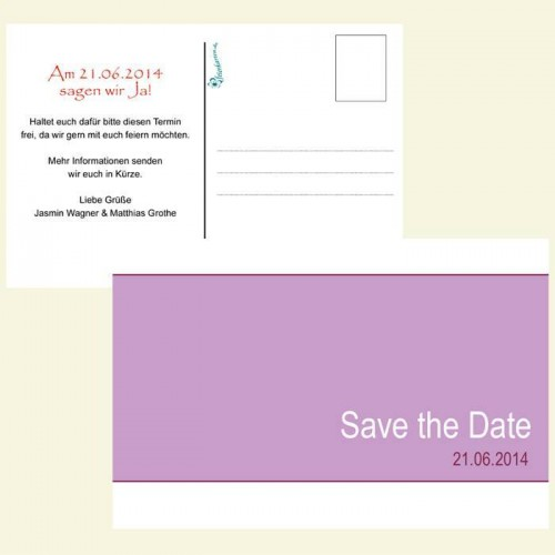 Save the Date Karte - Pink