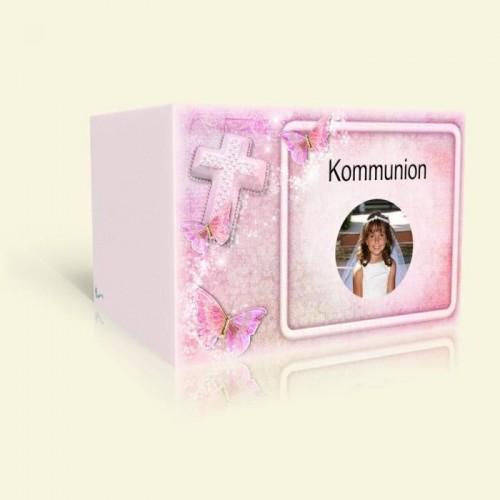 Einladungskarte zur Kommunion - Pink