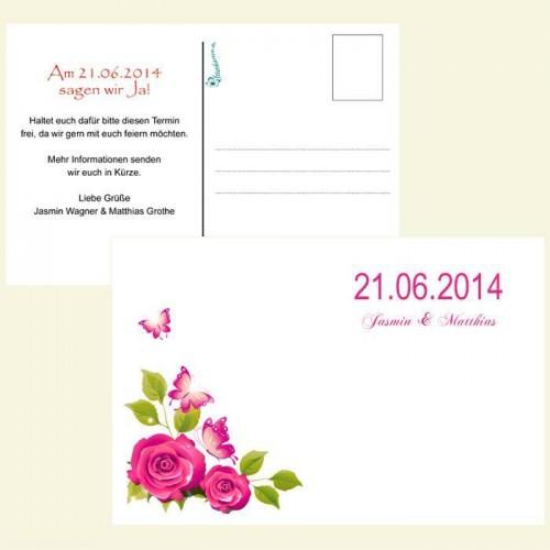 Save the Date Karte - Rosenranke
