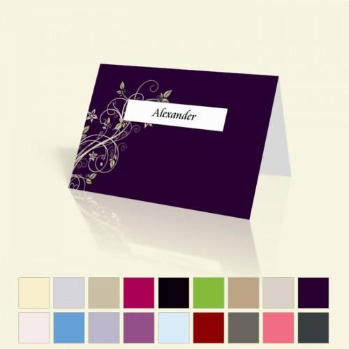 """Tischkarte """"Blumenranke"""" in vielen Farben für alle Anlässe"""