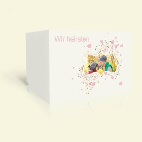 Hochzeitseinladung - Rosa Herzen