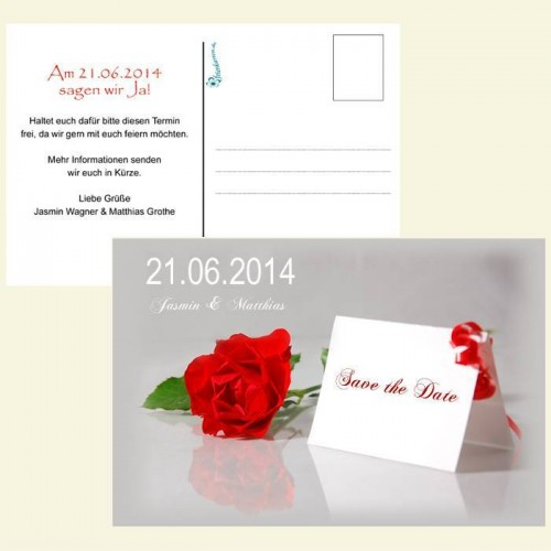 Save the Date Karte - Rosenkarte