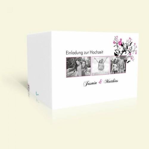 Hochzeitseinladung Zartes Rosenornament