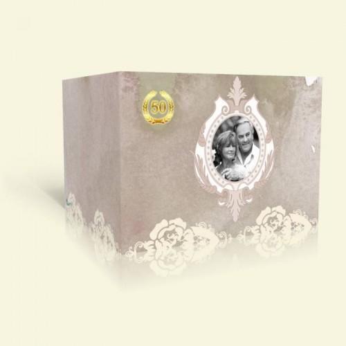 Einladungkarte Goldene Hochzeit - Rosenspitze