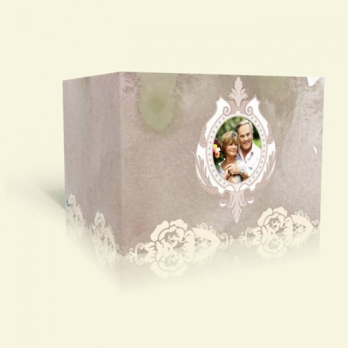 Einladungkarte Silberhochzeit - Rosenspitze