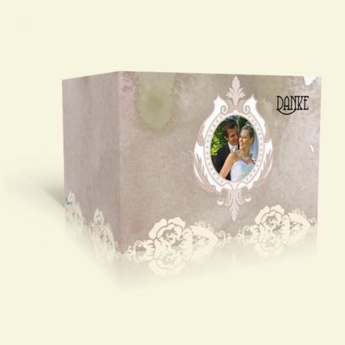 Danksagungskarte Hochzeit - Rosenspitze