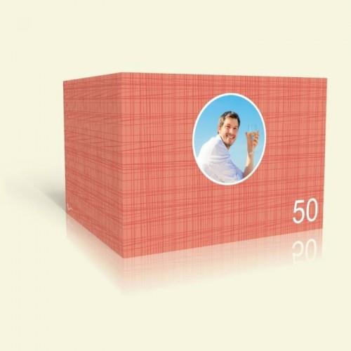 Einladungskarte zum Geburtstag - Rote Streifen