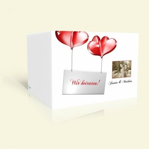 Hochzeitseinladungen  Ballons
