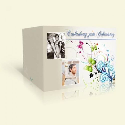 Geburtstagskarte Butterflies