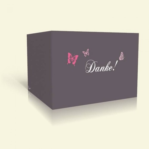 Danksagungskarte zur Hochzeit - Schmetterlinge
