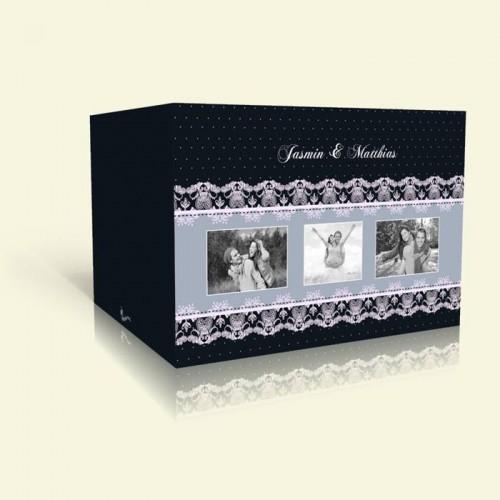 Hochzeitskarte Rahmen in Weißer Spitze