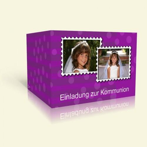 Kommunionseinladung Stamp