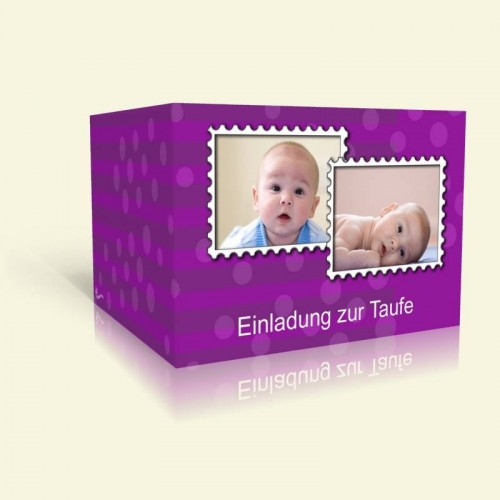 Taufeinladung Stamp