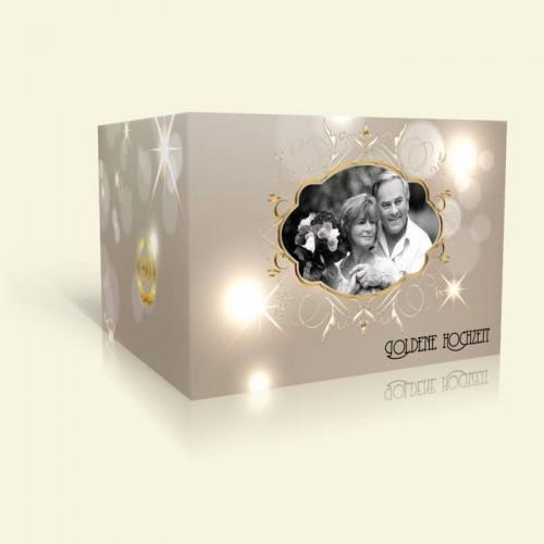 Goldene Hochzeit Einladungkarte - Sterne