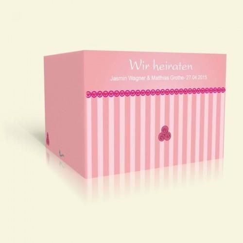 Hochzeitseinladung - Pink Stripes