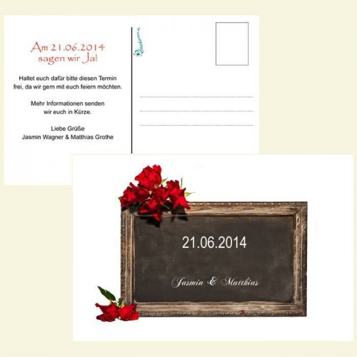 Save the Date Karte - Tafel