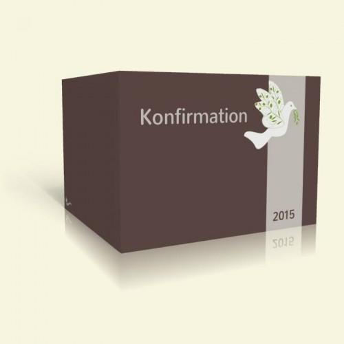 Konfirmation Einladungkarte - Taube