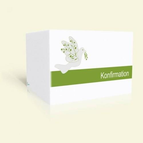 Einladungskarte zur Konfirmation - Friedenstaube