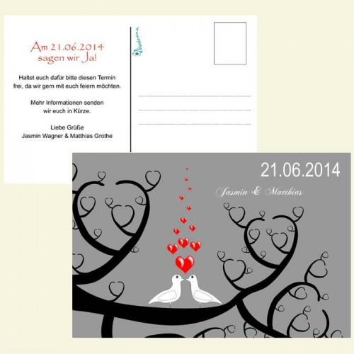 Save the Date Karte - Turteltauben