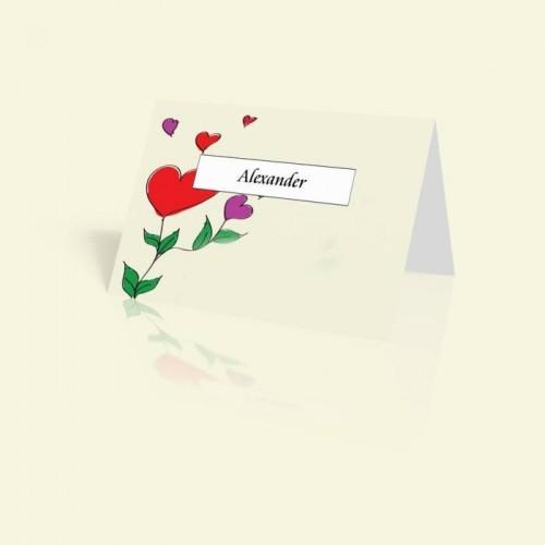 Tischkarte Happy Flowers