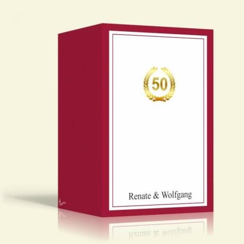Einladungskarte Goldene Hochzeit - ROT - Hochformat