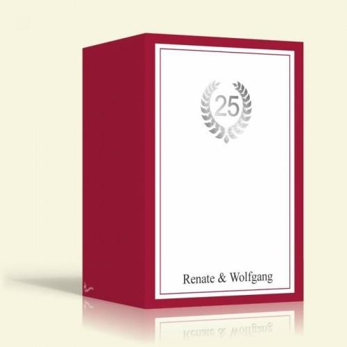 Einladung zur Silberhochzeit - ROT - Hochformat