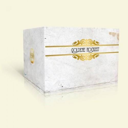 Goldene Hochzeit Einladungkarte - Vintage