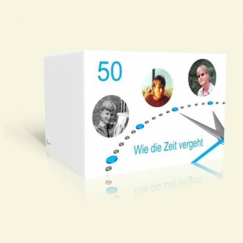 Einladung Geburtstag - Wie die Zeit vergeht - Uhr