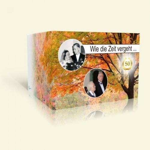 Einladungskarte Goldene Hochzeit - Wie die Zeit vergeht - Herbst