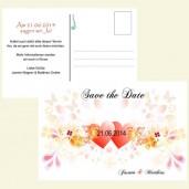 Save the Date Karte - Herzen