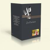 Menükarte - Besteck - Anthrazit