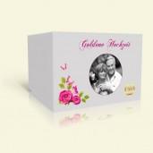 Einladung Goldene Hochzeit Rosenranke