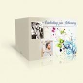 Einladungskarte zum Geburtstag - Butterflies