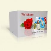 Hochzeitseinladung Tischkarte mit Rose