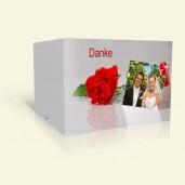 Danksagung Hochzeit Tischkarte mit Rosen