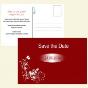 Save the Date Karte - Weiße Blumenranke