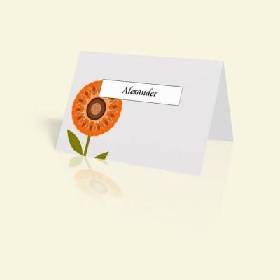 Tischkarte Sonnenblume