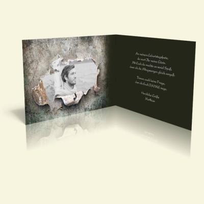 Danksagungskarte Geburtstag - Altes Eisen