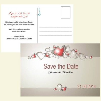 Save the Date Karte - Tanzende Herzen