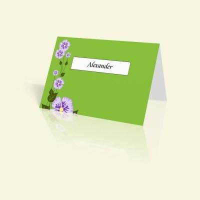 Tischkarte Grün