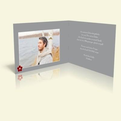Danksagungskarte Geburtstag - Simple Grey