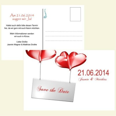 Save the Date Karte - Ballons