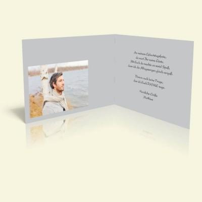 Danksagungskarte zum Geburtstag - Mohnfeld