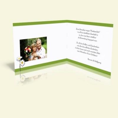 Danksagungskarte Margeriten mit grün