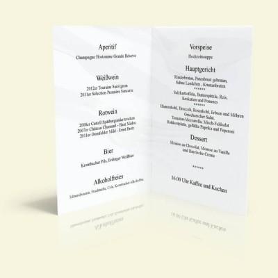 Menükarte - Besteck - Vanille