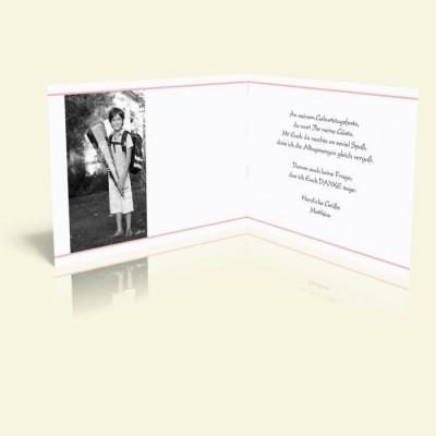 Danksagungskarte Geburtstag Kleeblattmuster