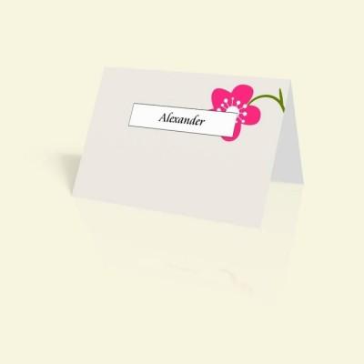 Tischkarte Pink Flower
