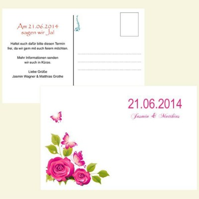 Save the Date Karte - Rosenranke