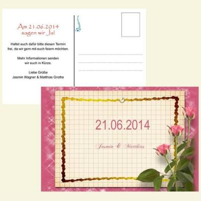 Save the Date Karte - Rosentafel