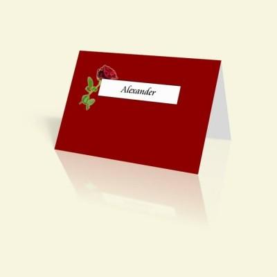 Tischkarte Rot wie die Liebe